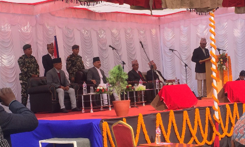 Oath Ceremony of Chief Minister of Gandaki Province