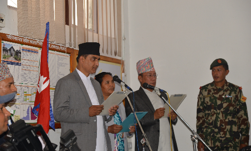 Oath Programme of newly Ministers