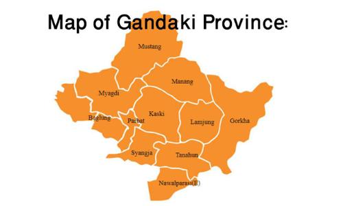 Map Of Gandaki Province